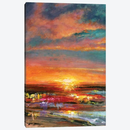 Sunset V Canvas Print #VDR59} by Vishalandra Dakur Canvas Art Print