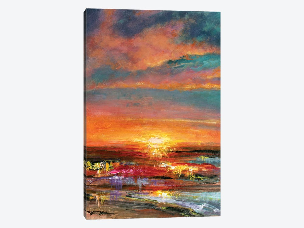 Sunset V by Vishalandra Dakur 1-piece Canvas Art Print