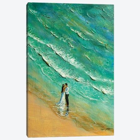 Beach Bride II Canvas Print #VDR66} by Vishalandra Dakur Canvas Art Print