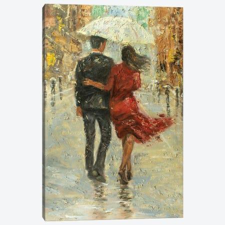Love In The Rain Canvas Print #VDR76} by Vishalandra Dakur Canvas Wall Art
