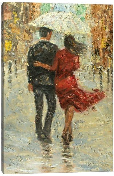Love In The Rain Canvas Art Print