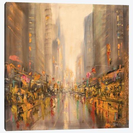 New York City In Rain VII Canvas Print #VDR81} by Vishalandra Dakur Canvas Wall Art