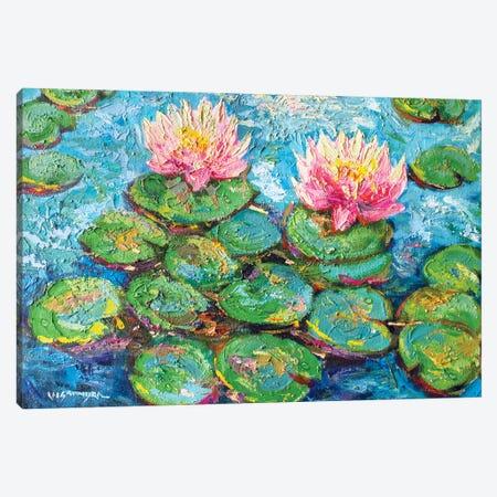 Monet Water Lilies I Canvas Print #VDR88} by Vishalandra Dakur Canvas Artwork