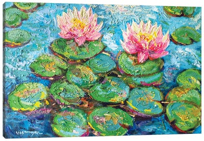 Monet Water Lilies I Canvas Art Print