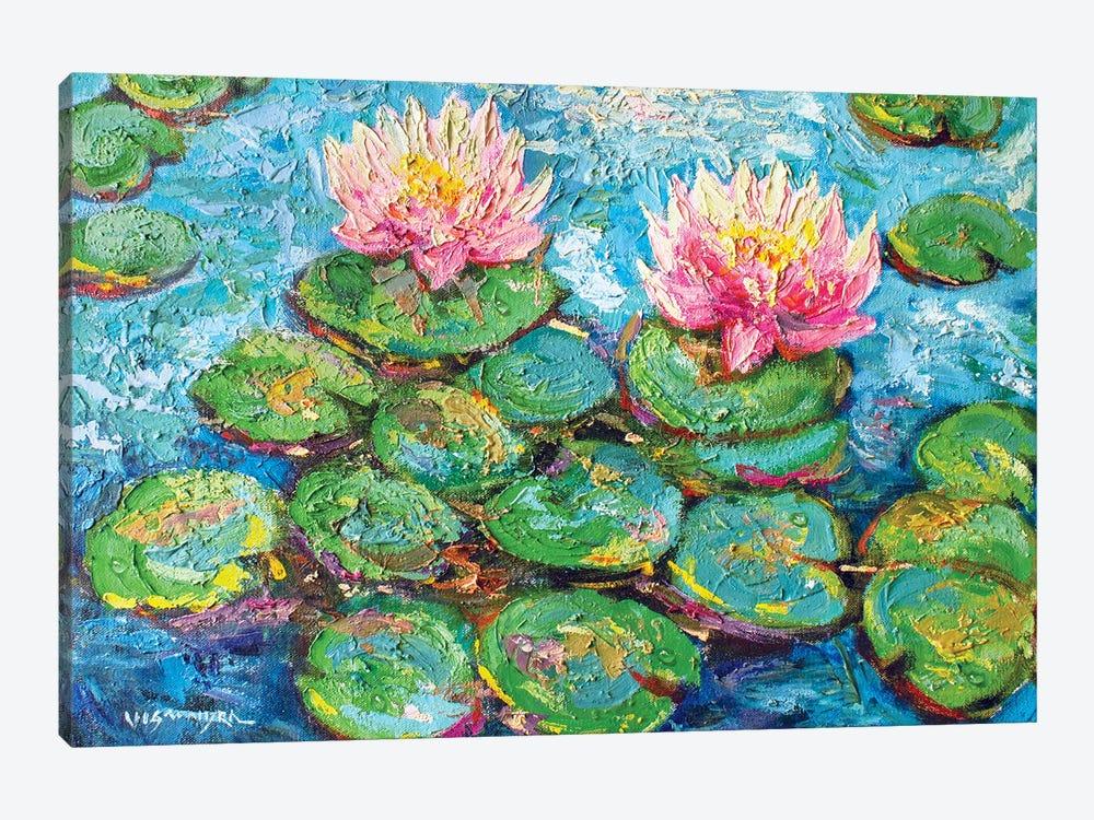 Monet Water Lilies I by Vishalandra Dakur 1-piece Canvas Print