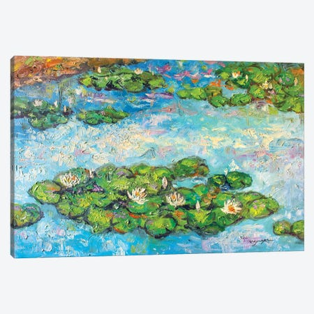 Six Water Drops Canvas Print #VDR89} by Vishalandra Dakur Canvas Artwork