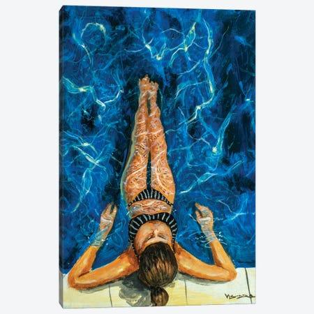 Girl Swimming XLIV Canvas Print #VDR8} by Vishalandra Dakur Canvas Art Print