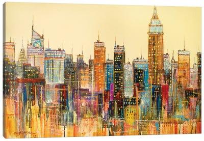 Abstract New York City II Canvas Art Print