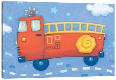 Blue Firetruck Canvas Art Print