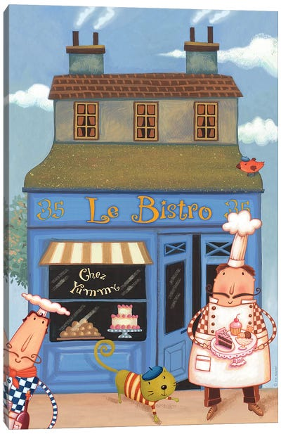 Chef V Chez Bistro Canvas Art Print