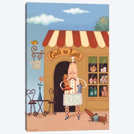 Chef VI Café au Lait Canvas Print #VEI17} by Viv Eisner Canvas Art