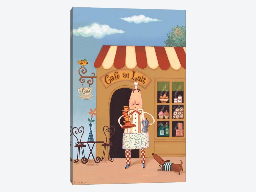 Chef VI Café au Lait by Viv Eisner 1-piece Canvas Print