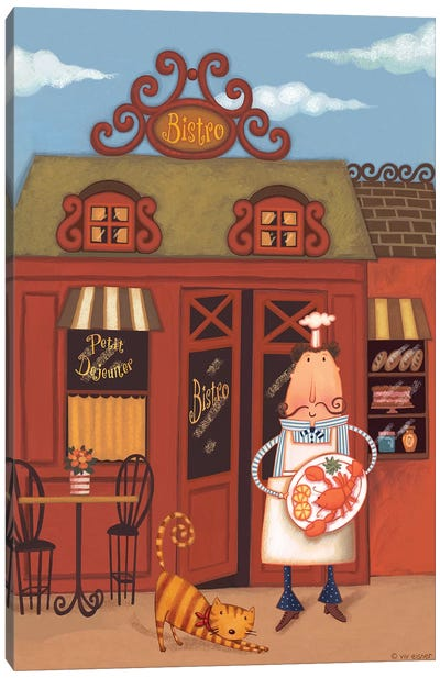Chef VII Petit Bistro Canvas Art Print