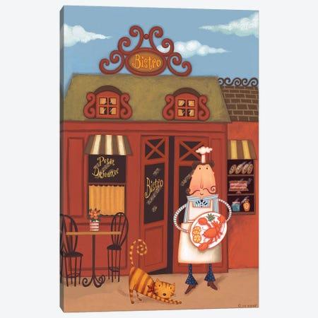 Chef VII Petit Bistro 3-Piece Canvas #VEI18} by Viv Eisner Art Print