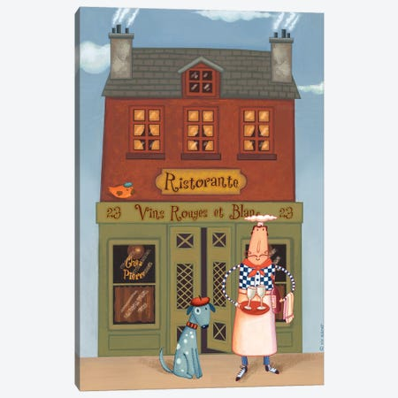 Chef VIII Ristorante Canvas Print #VEI19} by Viv Eisner Canvas Print