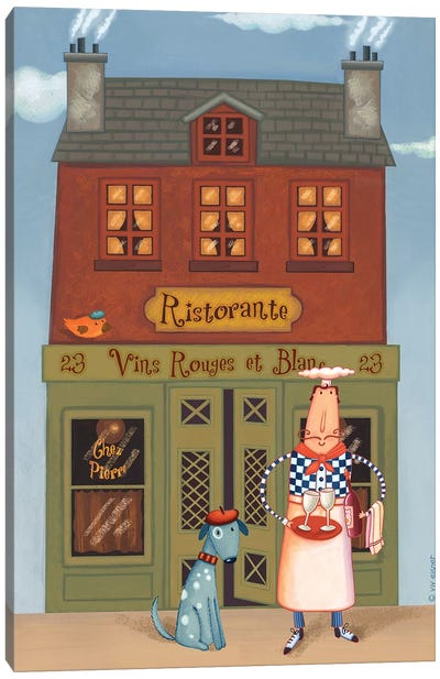 Chef VIII Ristorante Canvas Art Print