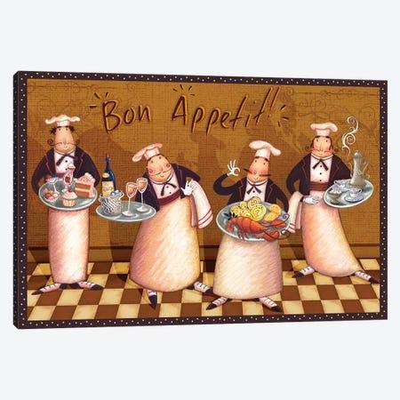 Chefs' Bon Appetit 3-Piece Canvas #VEI20} by Viv Eisner Canvas Wall Art