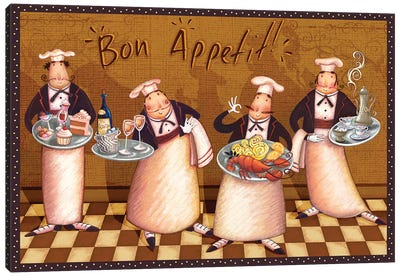Chefs' Bon Appetit Canvas Art Print