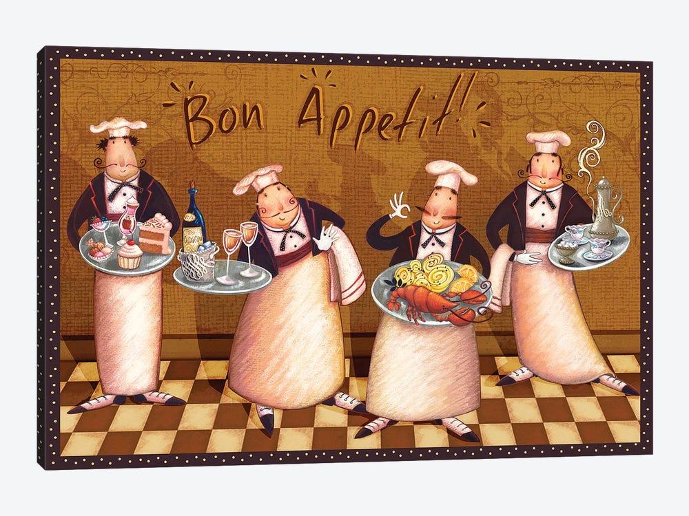 Chefs' Bon Appetit by Viv Eisner 1-piece Art Print