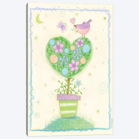 Heart Tree Canvas Print #VEI25} by Viv Eisner Canvas Print