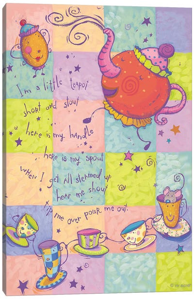 Rhyme I Teapot Canvas Art Print