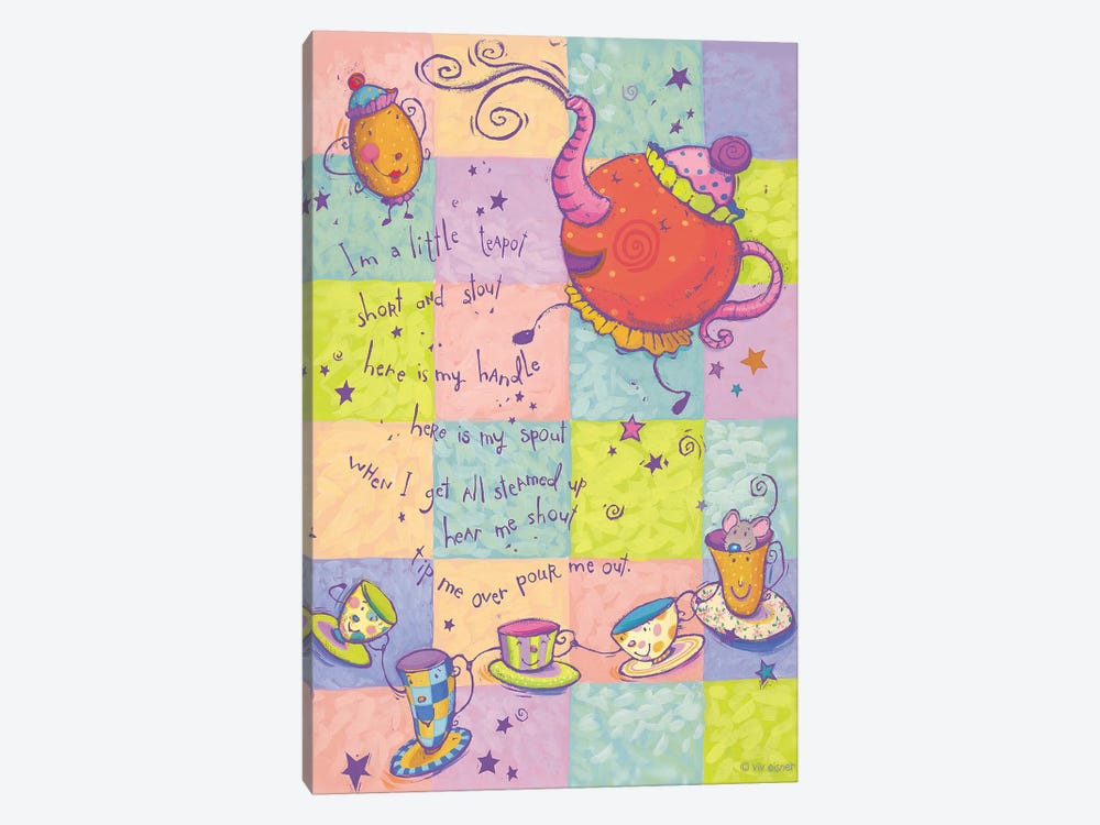 Rhyme I Teapot by Viv Eisner 1-piece Art Print