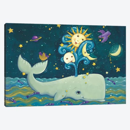 Sunny Whale Canvas Print #VEI39} by Viv Eisner Canvas Print