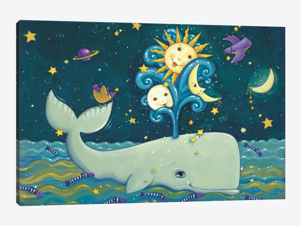 Sunny Whale 1-piece Canvas Art Print