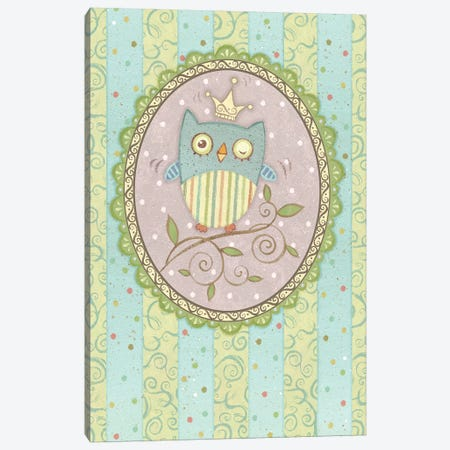 Winking Owl Canvas Print #VEI42} by Viv Eisner Canvas Artwork