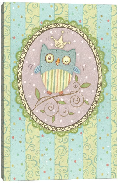 Winking Owl Canvas Art Print