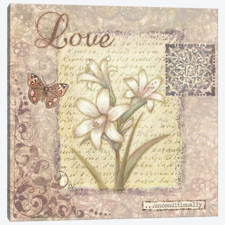 Word I Love Canvas Print #VEI43} by Viv Eisner Canvas Wall Art