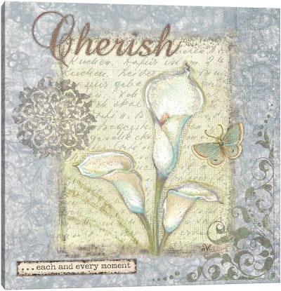 Word II Cherish Canvas Art Print