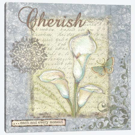 Word II Cherish 3-Piece Canvas #VEI44} by Viv Eisner Canvas Art Print
