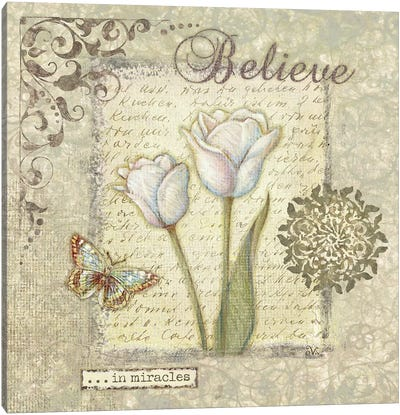 Word III Believe Canvas Art Print