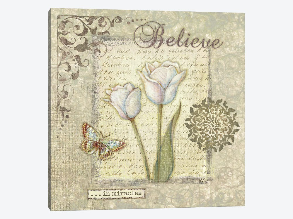 Word III Believe by Viv Eisner 1-piece Canvas Art