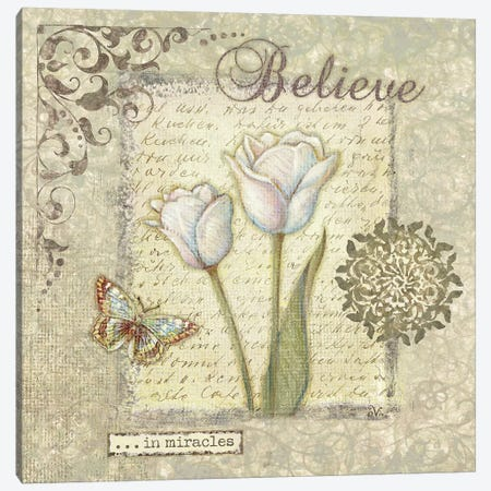 Word III Believe 3-Piece Canvas #VEI45} by Viv Eisner Canvas Art Print