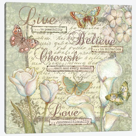 Word V Sentiments 3-Piece Canvas #VEI47} by Viv Eisner Canvas Print