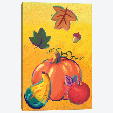 Graphic Cornucopia I 3-Piece Canvas #VEI58} by Viv Eisner Canvas Art Print
