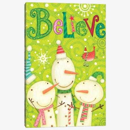 Bright Believe I Canvas Print #VEI61} by Viv Eisner Canvas Art
