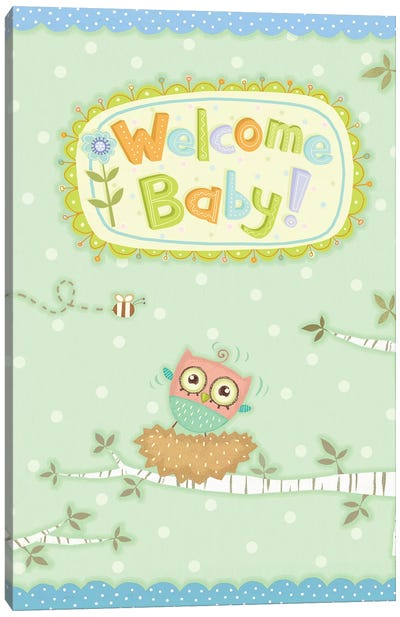 Baby Owl I Canvas Art Print