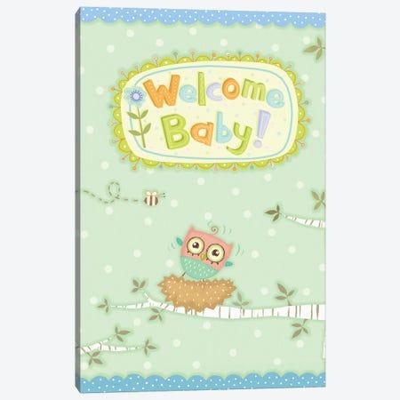 Baby Owl I Canvas Print #VEI63} by Viv Eisner Canvas Artwork
