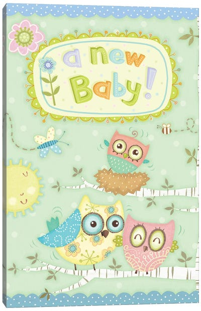 Baby Owl II Canvas Art Print