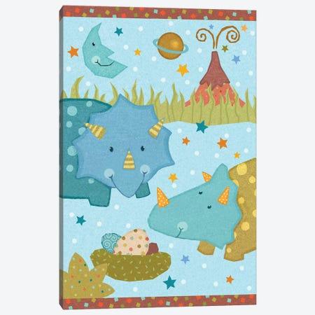 Dino Friends I Canvas Print #VEI65} by Viv Eisner Canvas Print