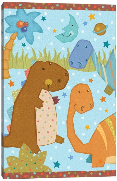 Dino Friends II Canvas Art Print