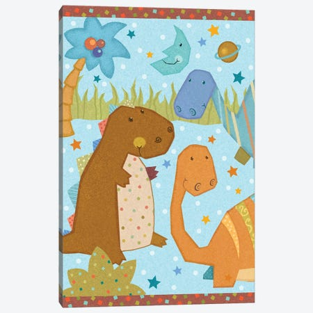 Dino Friends II 3-Piece Canvas #VEI66} by Viv Eisner Canvas Print