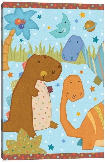 Dino Friends II Canvas Art Print