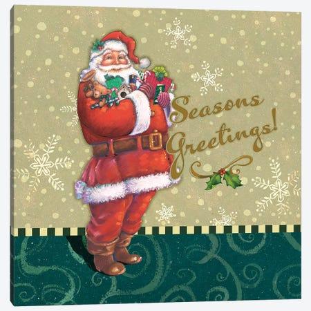 Classic Santa I Canvas Print #VEI79} by Viv Eisner Canvas Print