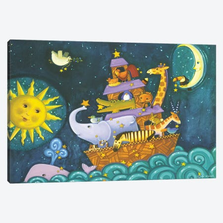Ark III Starry Ark Canvas Print #VEI7} by Viv Eisner Art Print