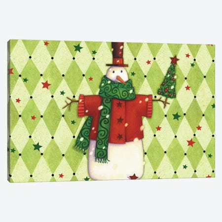 Harlequin Christmas Collection A Canvas Print #VEI86} by Viv Eisner Canvas Print