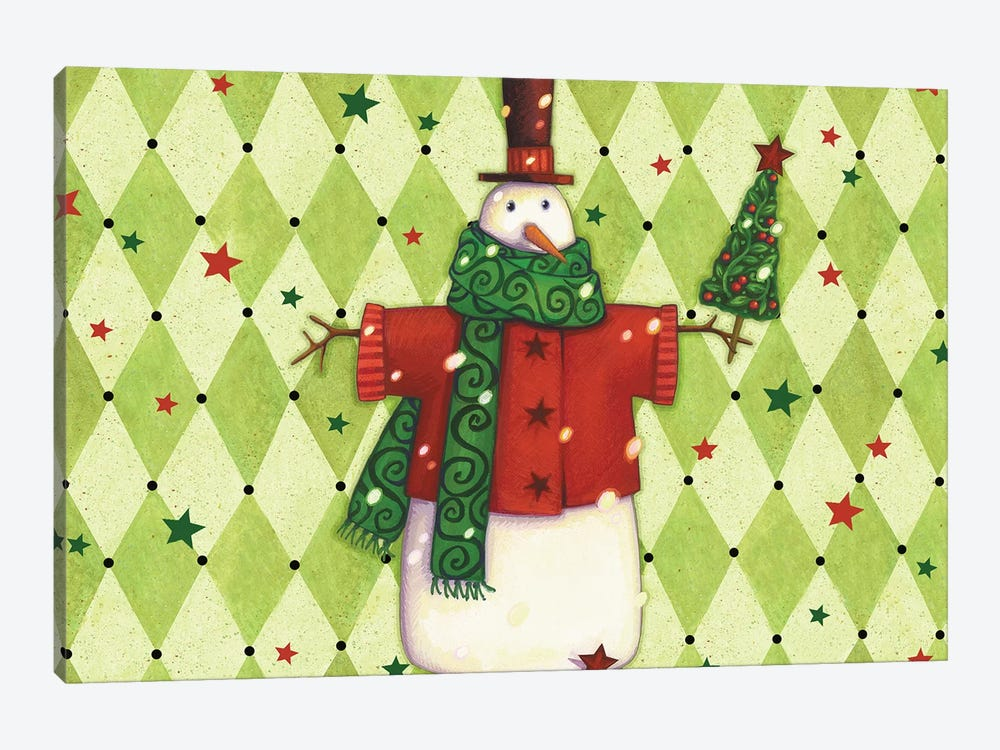 Harlequin Christmas Collection A by Viv Eisner 1-piece Canvas Art Print